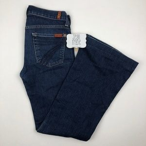 7 for all mankind dojo flare jeans 25x29